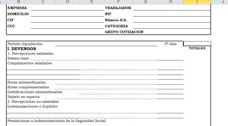 Recibo de nómina en excel y pdf : Descargalo GRATIS !!!!